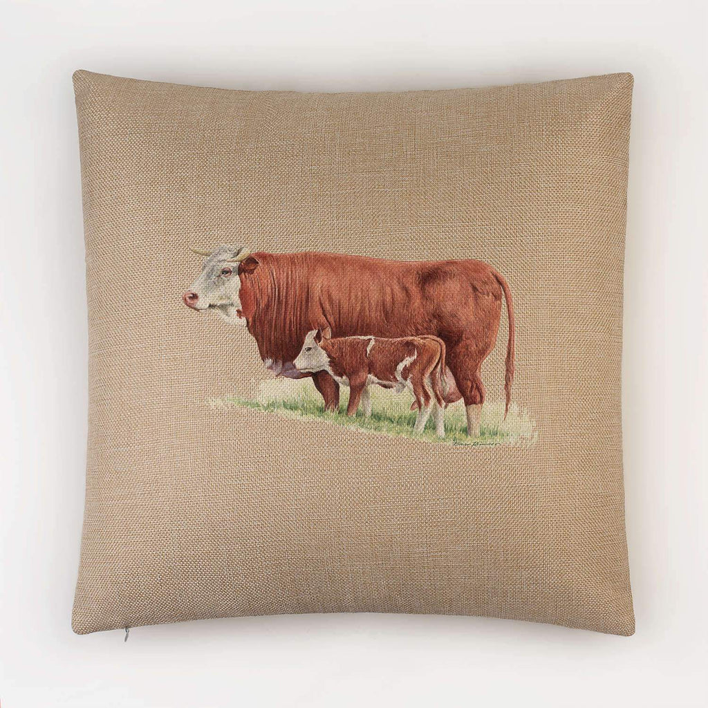 Cow and Calf Cushion - Countryman John