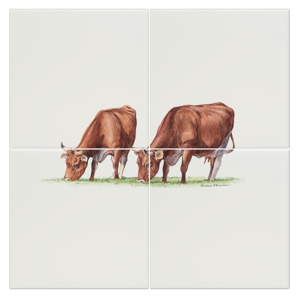 Cows Feeding Tile - Countryman John