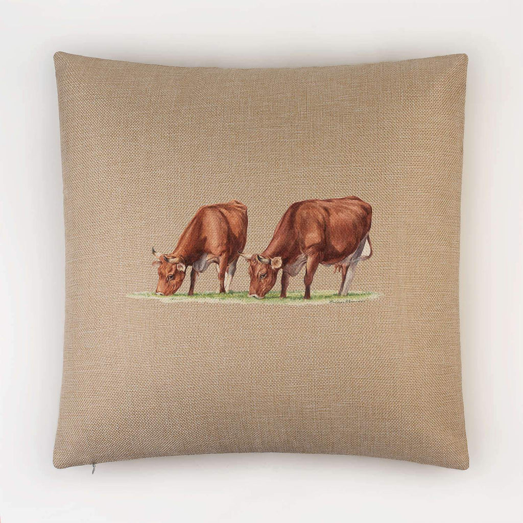 Cows Feeding Cushion - Countryman John