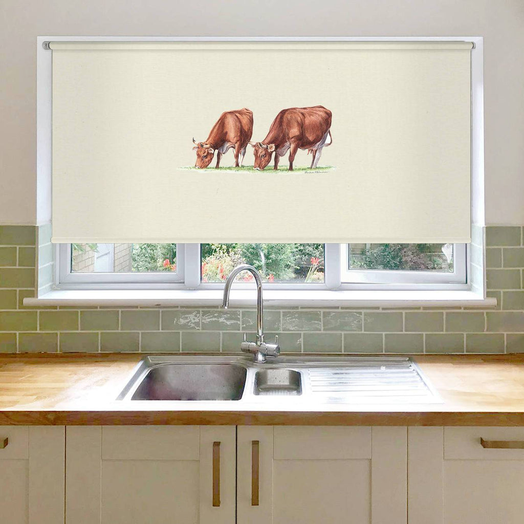 Cows Feeding Roller Blind