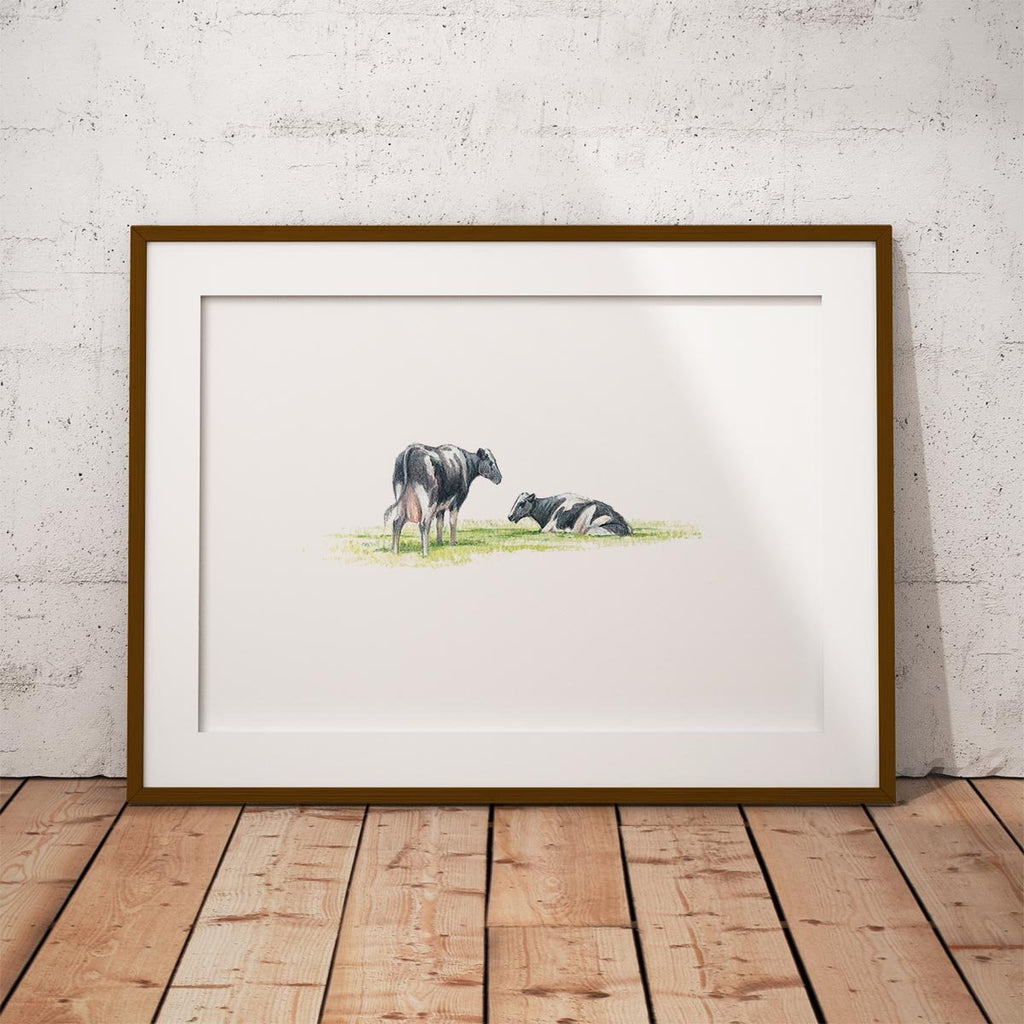 Cows Wall Art Print - Countryman John