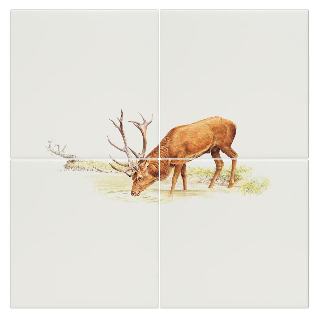 Drinking Red Stag Tile - Countryman John
