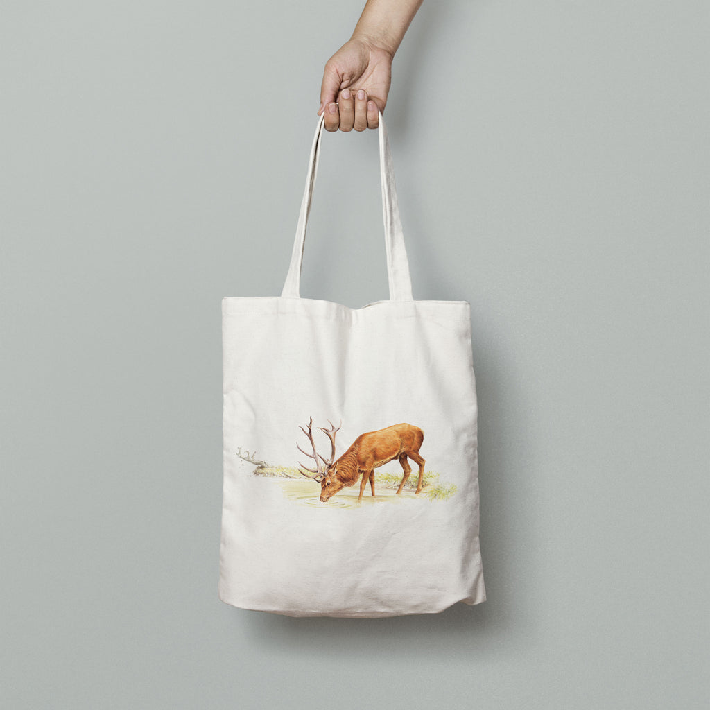 Drinking Red Stag Tote Bag