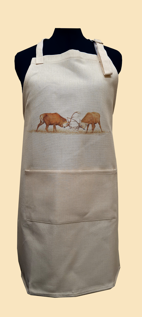 Duelling Stags Apron