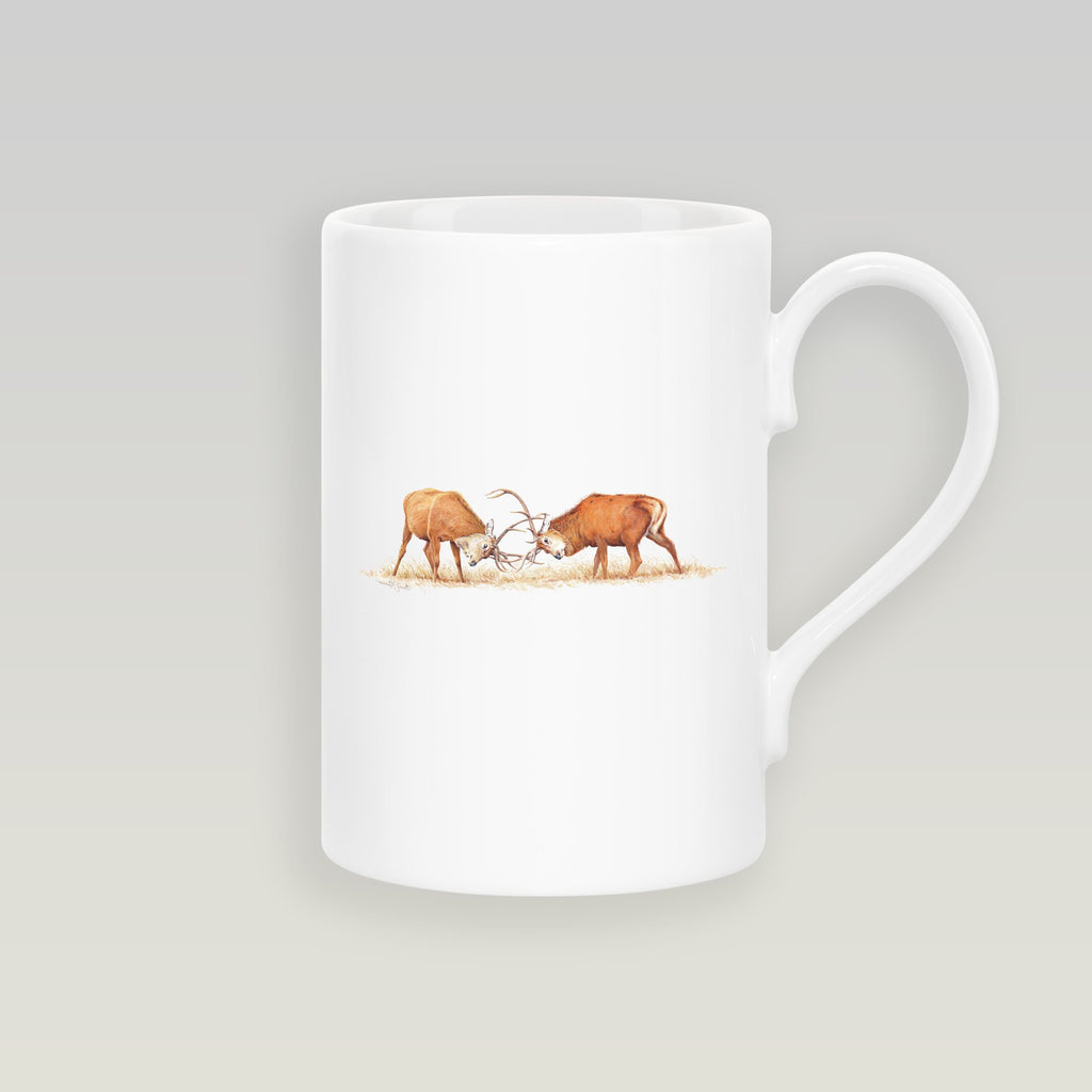 Duelling Stags Slim Mug - Countryman John