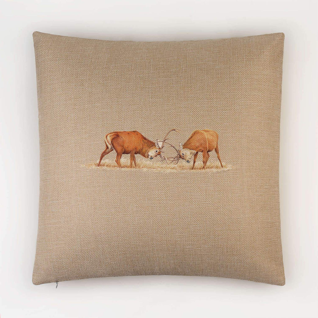 Duelling Stags Cushion - Countryman John