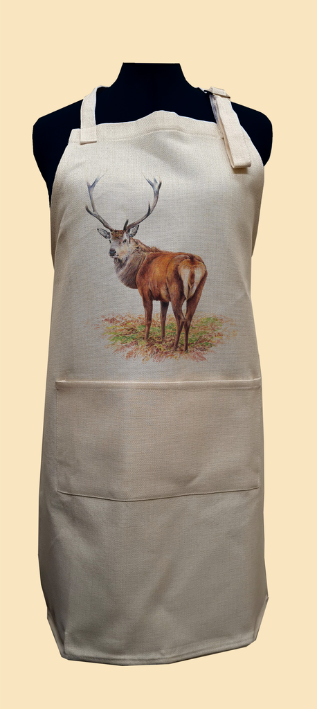 Proud Red Stag Apron