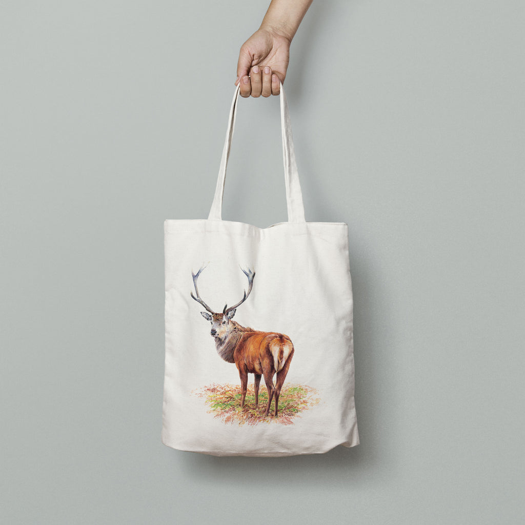 Proud Red Stag Tote Bag