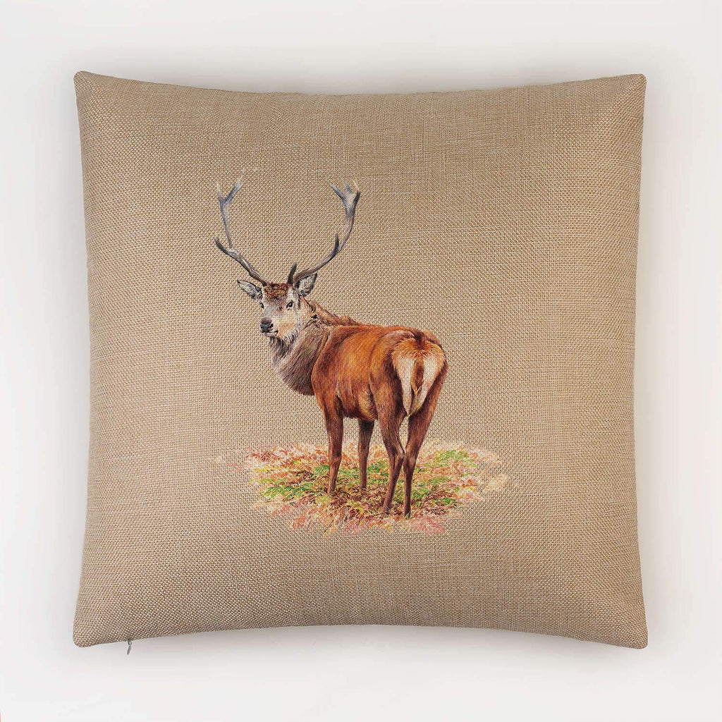 Proud Red Stag Cushion - Countryman John