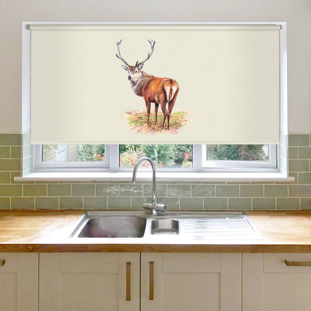 Proud Red Stag Roller Blind