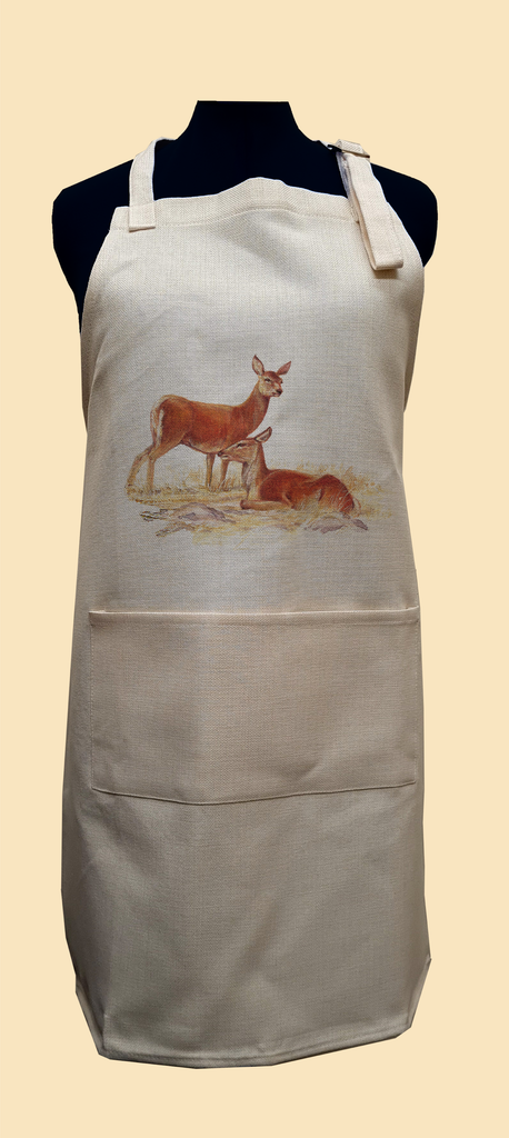 Red Hind Deer Apron