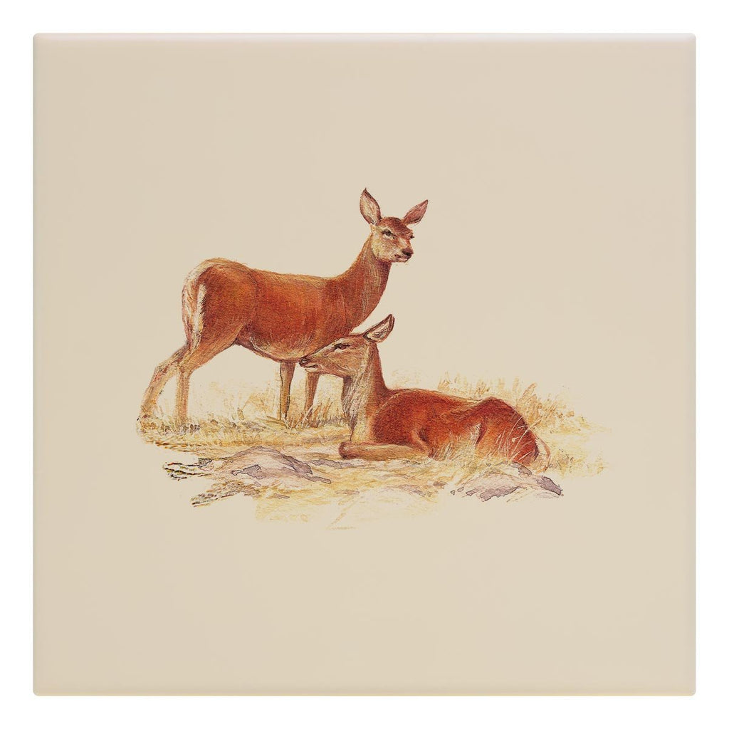 Red Hind Deer Tile - Countryman John