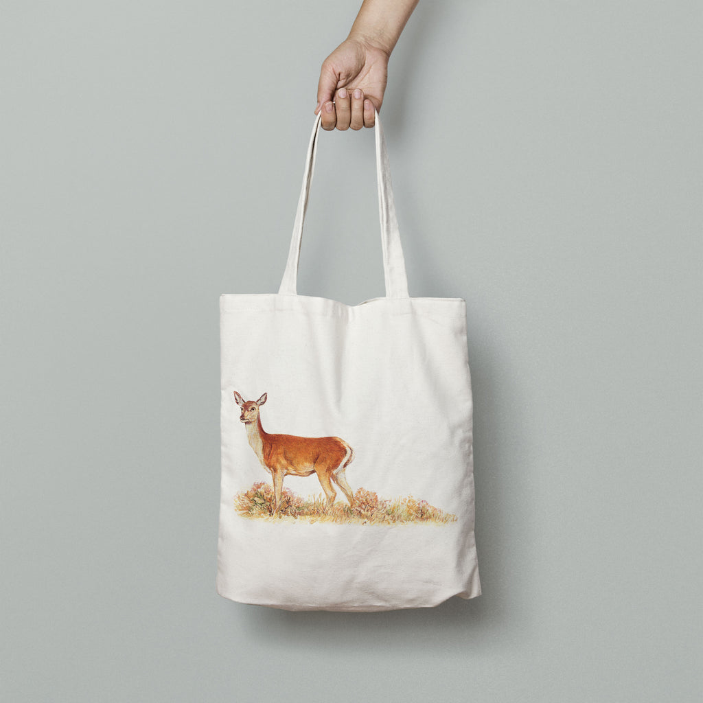 Red Calf Doe Tote Bag