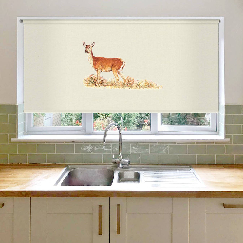 Red Calf Doe Roller Blind