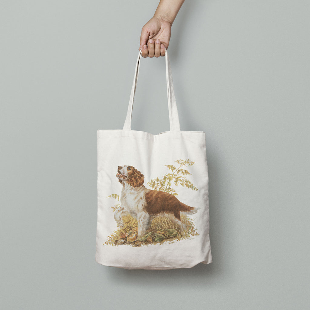 Brown and White Springer Spaniel Tote Bag