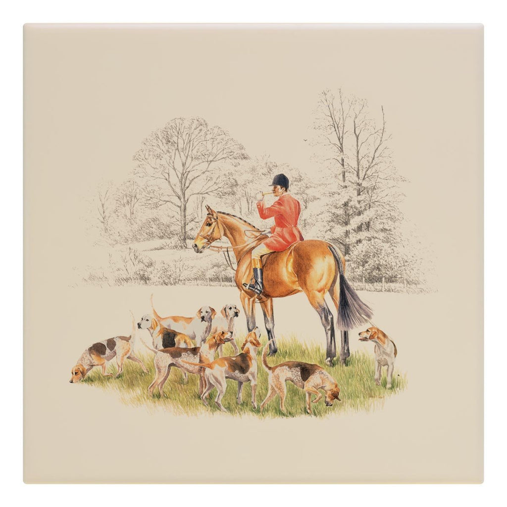 Huntsman and Hounds Tile - Countryman John