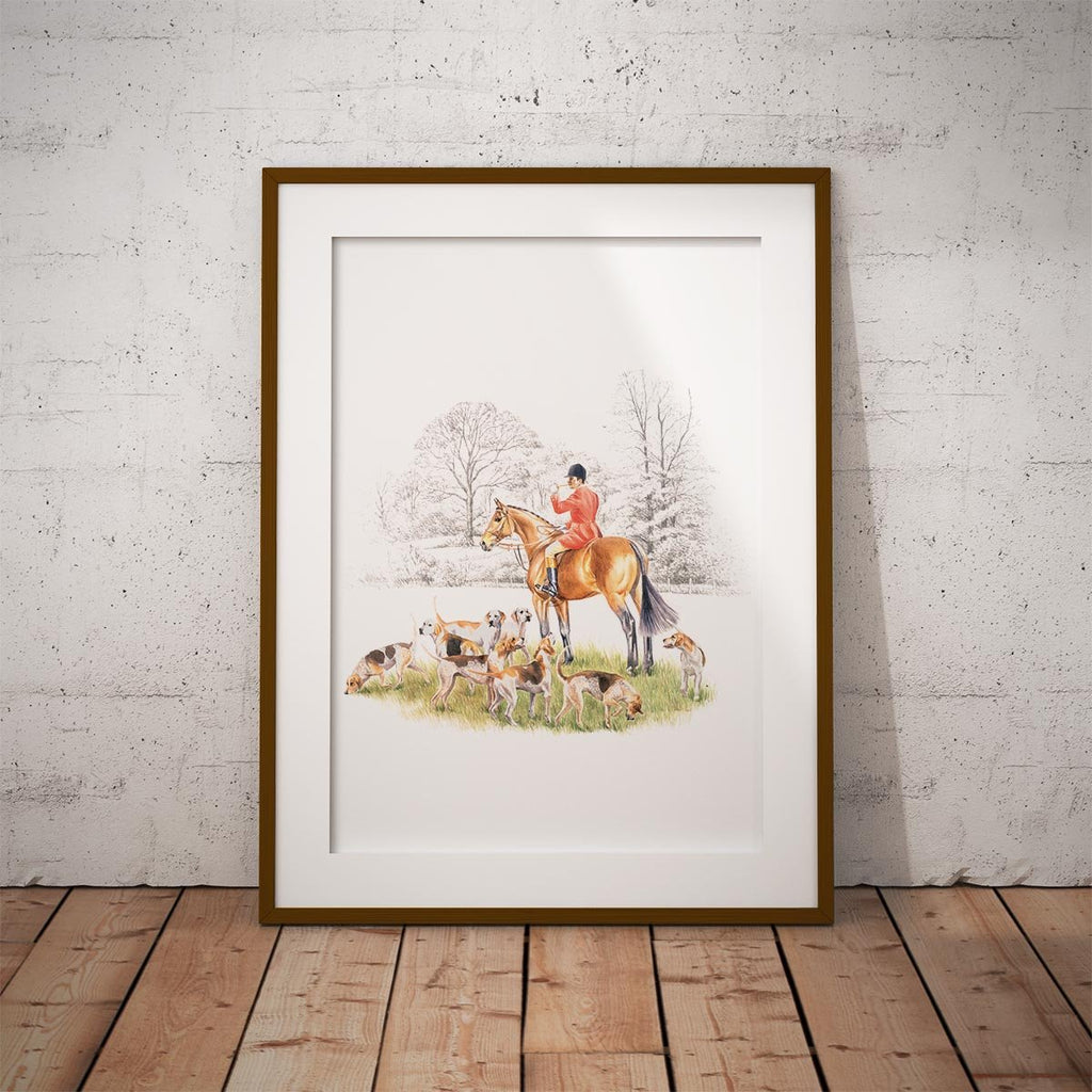 Huntsman and Hounds Wall Art Print - Countryman John