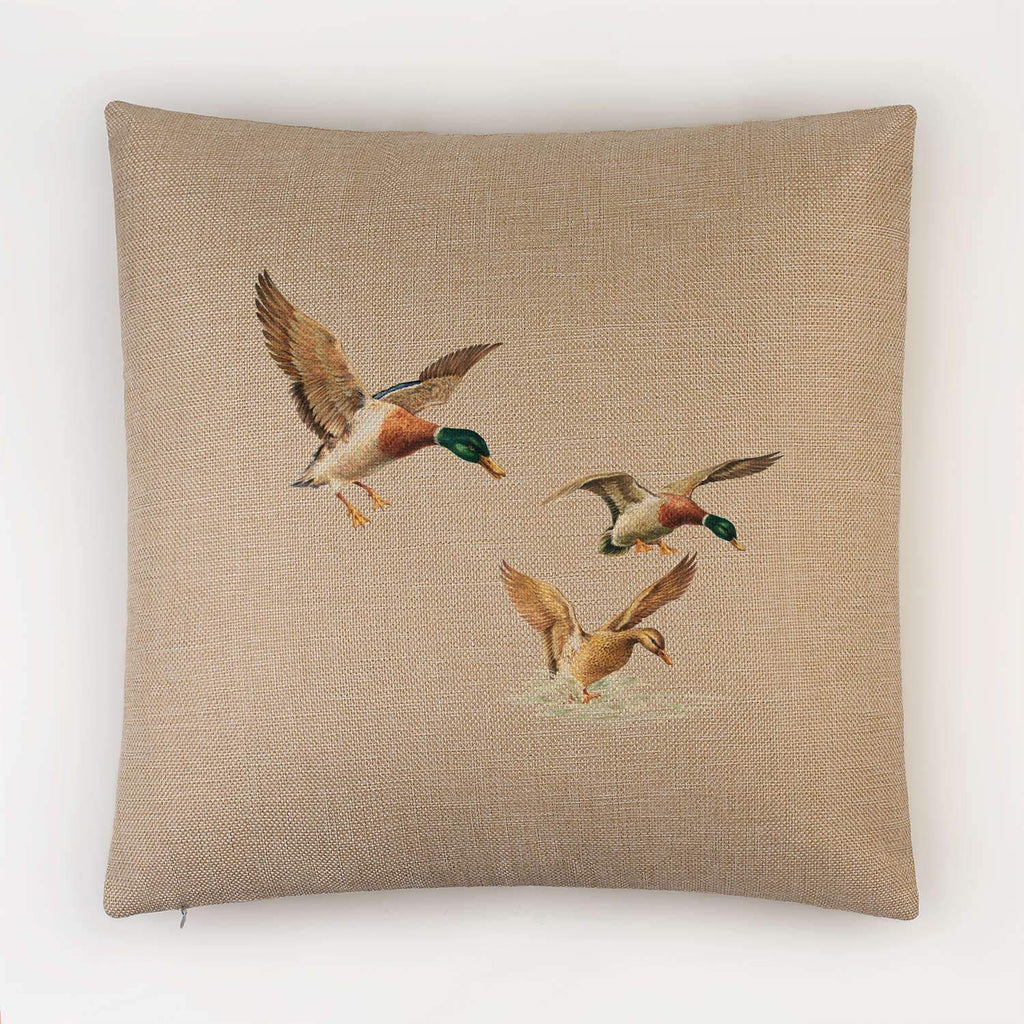 Ducks Coming in to Land Cushion - Countryman John