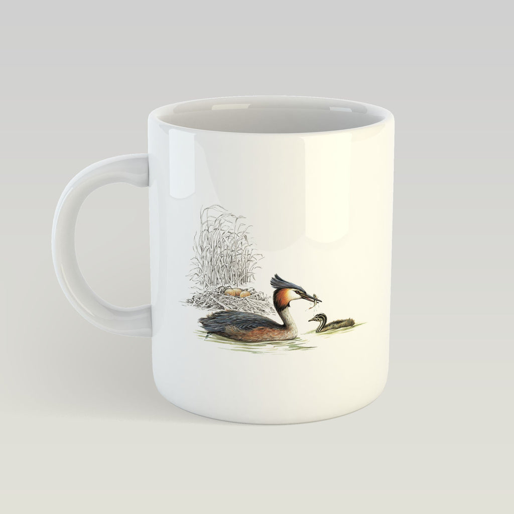 Grebe and Nest Mug - Countryman John