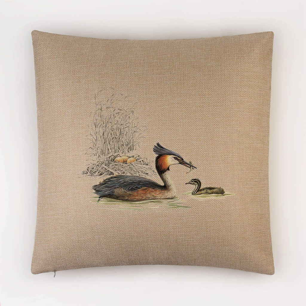Grebe and Nest Cushion - Countryman John