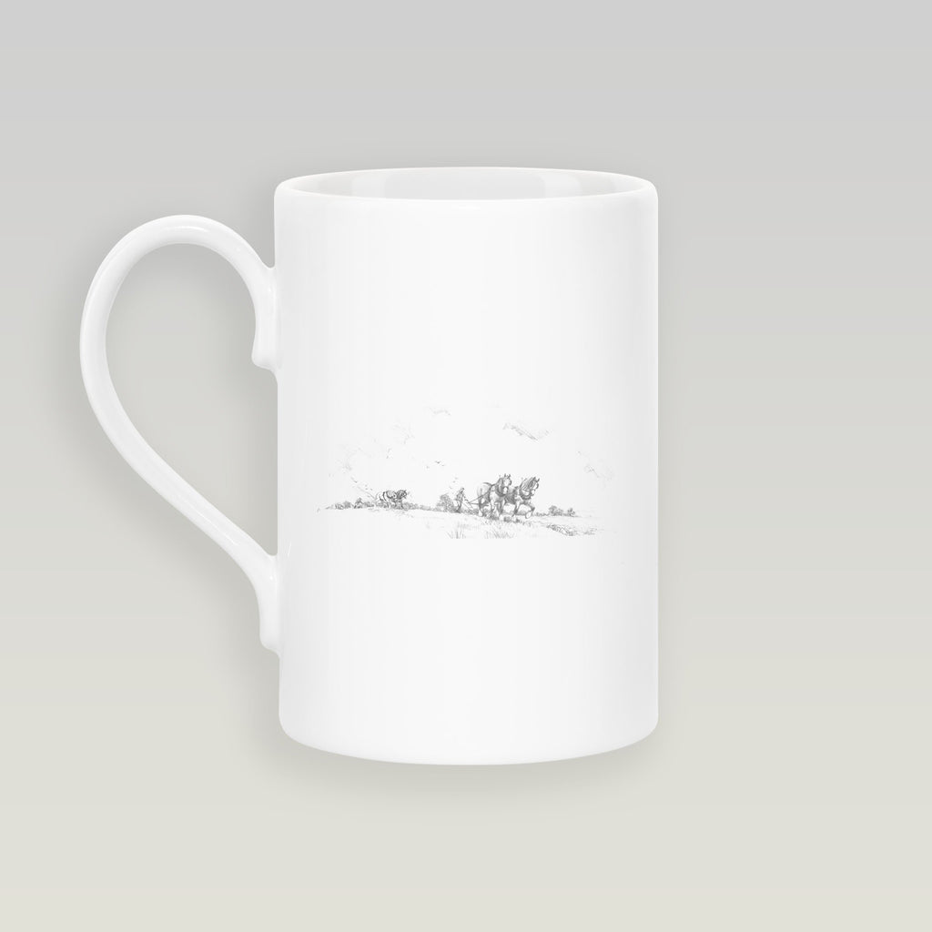 Horse and Plough Slim Mug - Countryman John