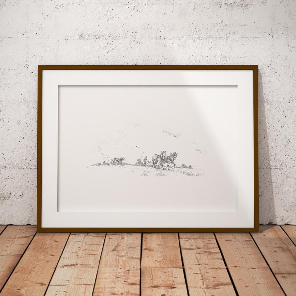 Horse and Plough Wall Art Print - Countryman John