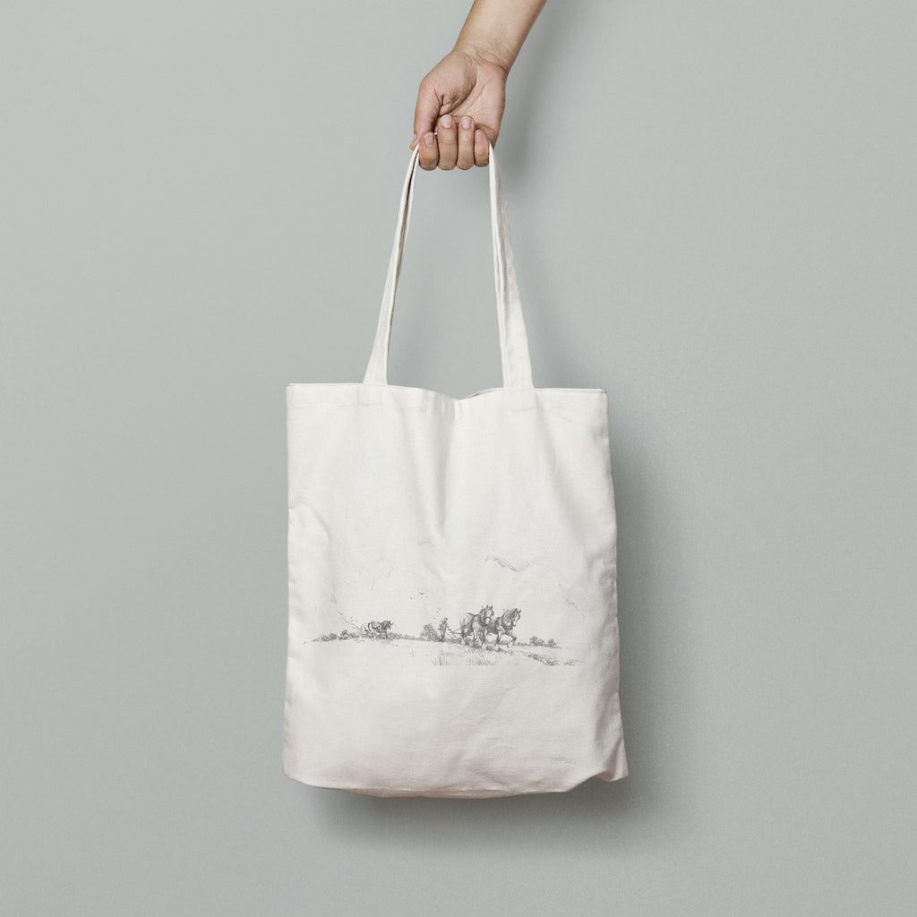 Horse and Plough Tote Bag