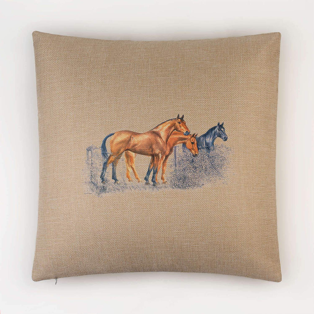 Horses Cushion - Countryman John
