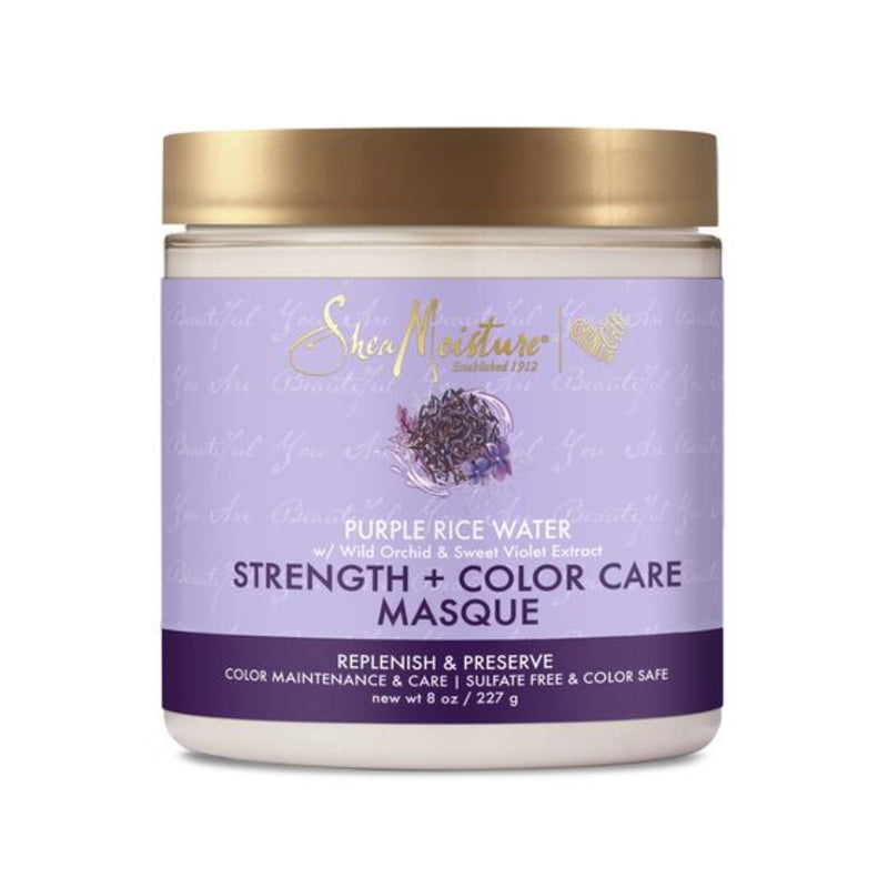 Shea Moisture - Purple Rice Water Strength + Color Care Masque ( 8 oz )