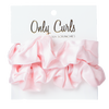 Only Curls - Silk Scrunchies Pink