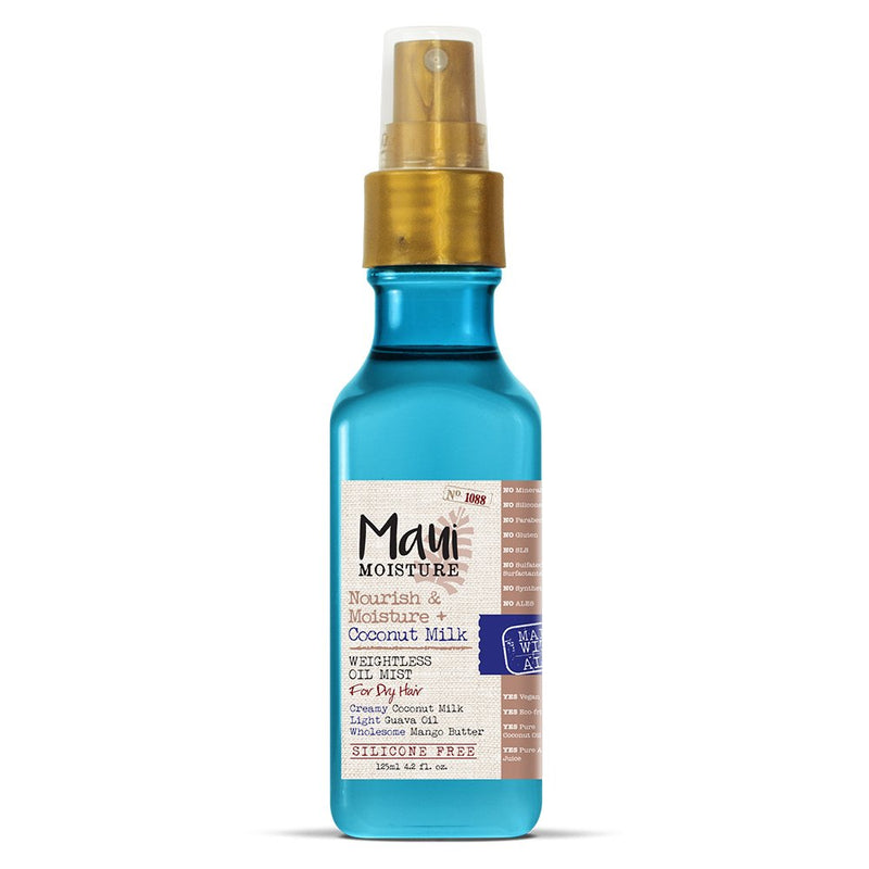 Maui Moisture - Nourish & Moisture + Coconut Milk Weightless Oil Mist, 4.2 Ounce