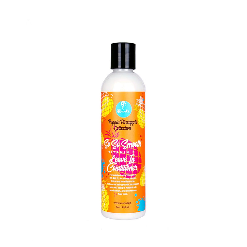 Curls The Poppin Pineapple - So So Smooth Vitamin C Leave In Conditioner (8 Oz)