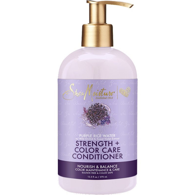 Shea Moisture - Purple Rice Water Strength + Color Care Conditioner ( 13.5 oz )