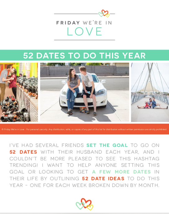 52 Dates to Do This Year e-Book