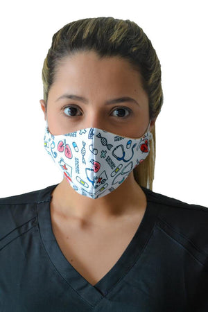 Mask Nurse Heroes matching scrub
