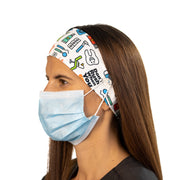 Dental Headband with Buttons - scrubcapsusa