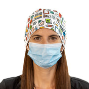 Pediatric scrub Cap with buttons - scrubcapsusa