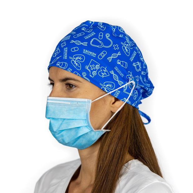 Healthcare Heroes Scrub Cap with Buttons - scrubcapsusa