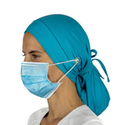 Solid Color Ponytail Scrub Cap - scrubcapsusa