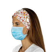 Nurse Headband with Buttons - scrubcapsusa