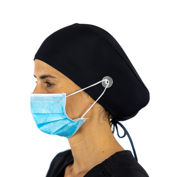 Solid color Scrub Cap with Buttons - scrubcapsusa