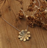 Smaller sunflower pendant necklace