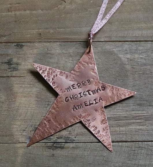Personalised shooting star tree decoration