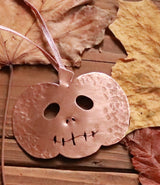 Copper Halloween pumpkin decoration