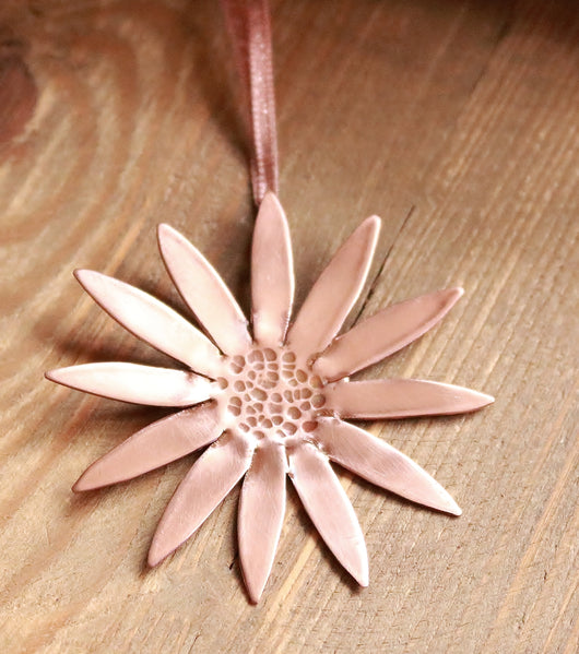 Copper daisy keepsake