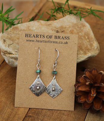 Sterling and turquoise arrow head earrings
