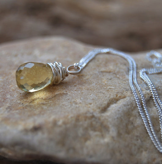 Citrine briolette necklace.