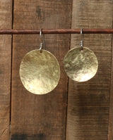Brass textured earrings
