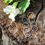 Triple sterling silver hoops