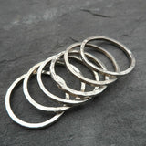 Sterling silver beaten stacker rings.   (Child/ Adult )